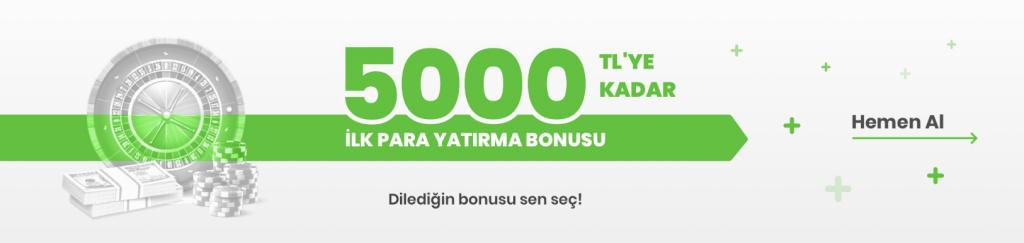 5000 TL Bonus bets10'da İlk Para  Yatırma İşleminde